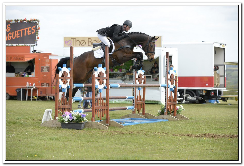 Kevin in the showjumping arena