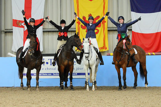 The successful Glenbrae Riding Club team qualifying for the showjumping finals.